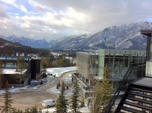 The Banff Centre for the Arts and Creativity nestled in the Canadian Rocky Mountains.